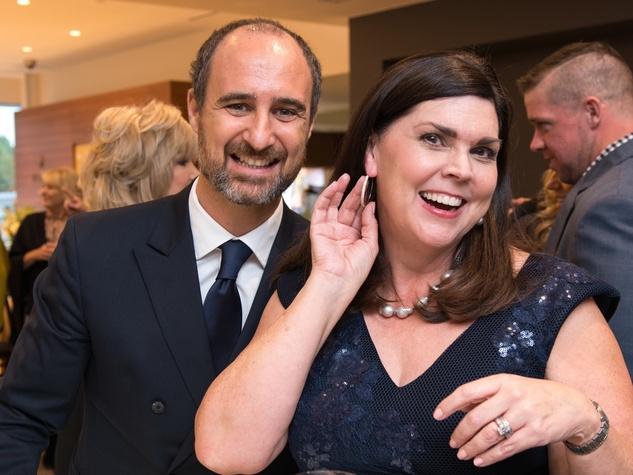 Mattia Cielo and Lesha Elsenbrook at IW Marks Jewelers