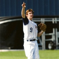 Ryan Romo playing baseball for Highland Park High School