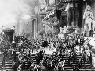 still from the D.W. Griffith film Intolerance