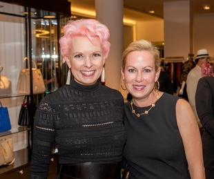 Vivian Wise, Genna Evans at Heart of Fashion kickoff party