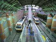 DART Mockingbird Station, train, rail