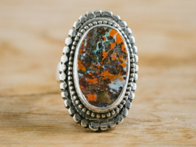 Rare jasper set in sterling silver, the sterling soul