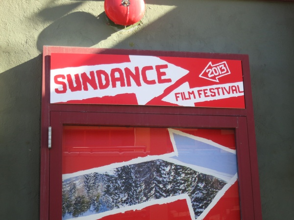 Sundance Film Festival, sign, January 2013