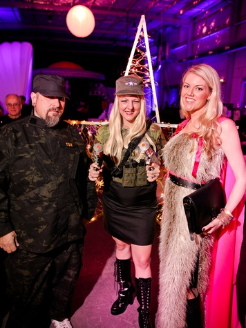 020 Jeff Rhino Neumann, from left, Katherine Lott Neumann and Kristina Wilson at the Fresh Arts Space Ball March 2014