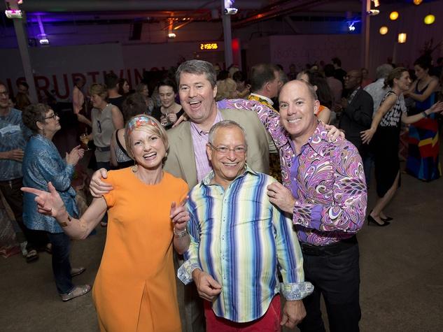 Glassell Benefit and Auction 2015 Bridget and Patrick Wade; Brad Nagar; Reid Sutton