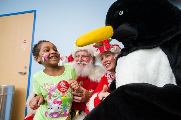 12 Santa at Texas Children's Hospital December 2013