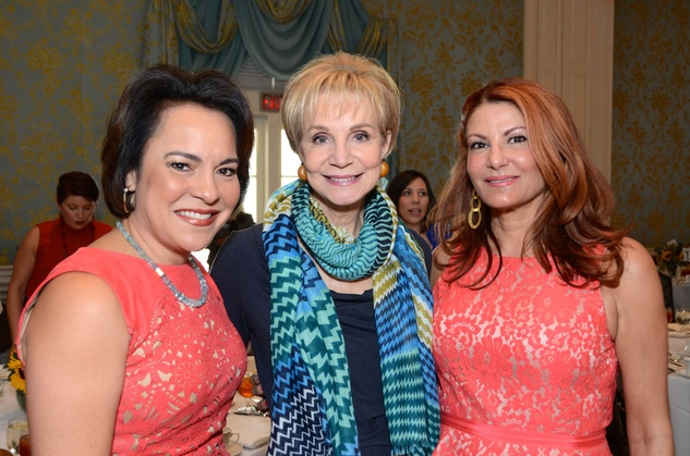 37 Rosi Hernandez, from left, Leisa Holland Nelson and Mimi Blum at the Latin Women's Initiative Luncheon October 2014