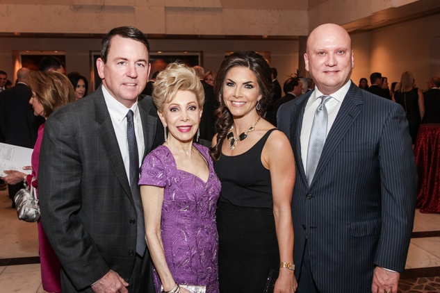 4869 Baron Segar, from left, Margaret Alkek Williams and Monica and John Blaisdell at the Mission of Yahweh gala May 2014