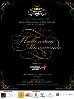 invitation to casino and soiree a la Marie Antoinette at Austin Polo Club