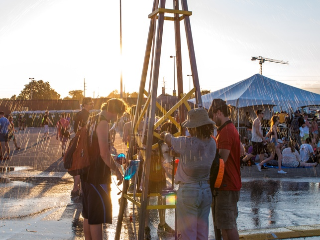 heat relief water station at Free Press Summer Fest
