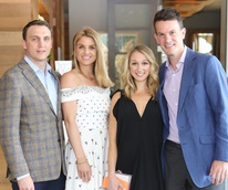 Houston Ballet Barre dinner, April 2016 Jason Arnoldy, Lindley Arnoldy, Erin Stewart, James Stewart