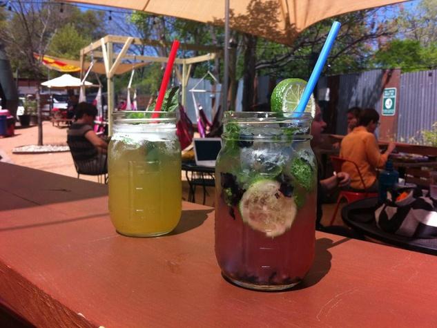 South Lamar Social Club_Austin patio bar_blueberry mojito_2015