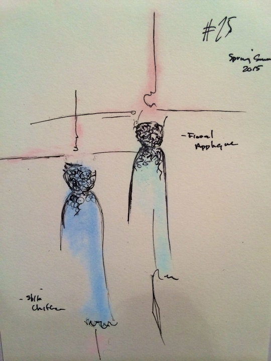 Fashion Week sketch spring 2015 Sept. 2014 Amir Taghi