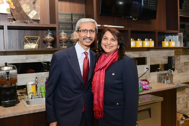11a Farida and Nasruddin Rupani at the Cacao & Cardamom party November 2014
