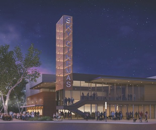 Sky Cinemas rendering Belterr Village Southwest Austin Crescent Comunities Endeavor Real Estate Group