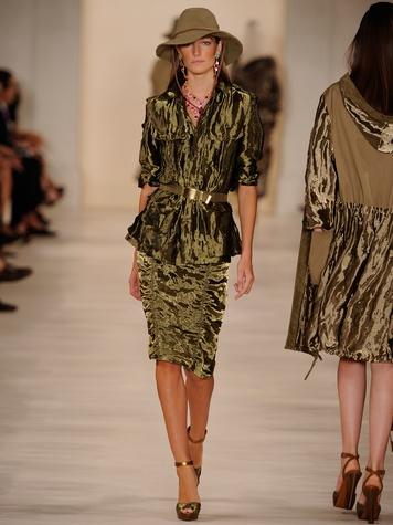 Fashion Week spring 2015 Ralph Lauren September 2014 safari material