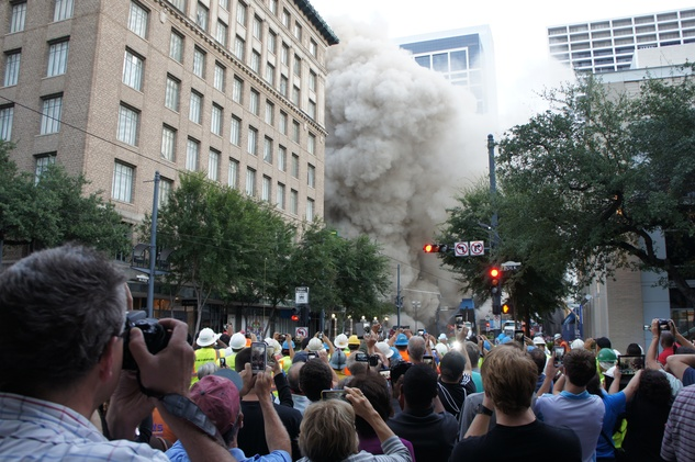 Macy's Foley's implosion explosion building demolition