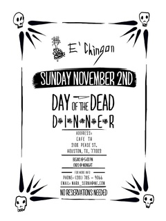 E' Chingon Day of the Dead Pop Up Dinner