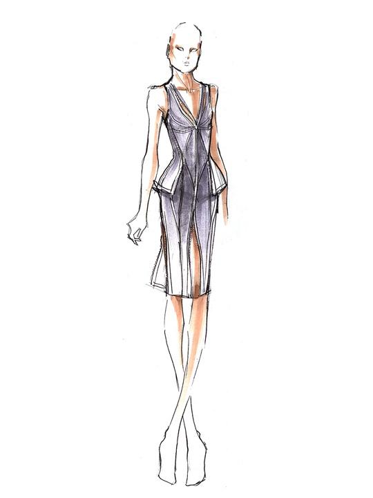 Fashion Week spring summer 2014 Herve Leger sketch