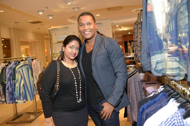 31 Veena Chandrakar and Washington Sereatan at the Neiman Marcus Men's Fall Trend Event September 2014