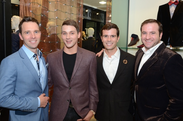 Cody Soutar, from left, Jonathan Blake, J.D. Adamson and Tony Gibson at the Festari Holiday Party December 2014