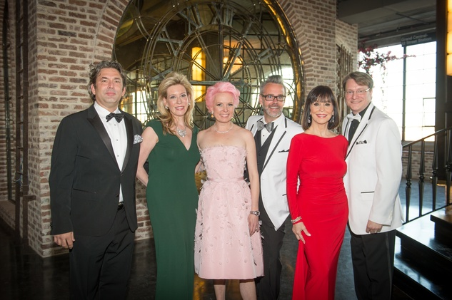 Jared Lang, from left, Mauri Oliver, Vivian Wise, Michael Pearce, Sandra Porter and Matt Burrus at the Stages Repertory Theatre Gala April 2015 FULTON
