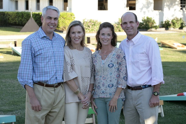 41 David and Carolyn Anderson, from left, and Leslie and Michael Fertitta at the Toss for Texas Children's Hospital October 2014