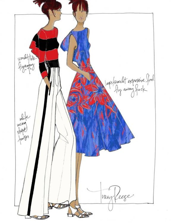 Fashion Week spring summer 2014 Tracy Reese sketch