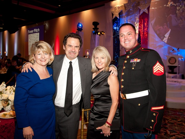 Helping a Hero.org gala, October 2012, Meredith Iler, Dennis Miller, Resa Wing, Sgt. Eddie Wright