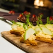 White cheddar pimiento cheese on toast points at Dish Restaurant & Lounge in Dallas