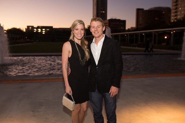 9 Holly Smith and Austin Alvis at the Hermann Park Centennial Gardens inaugural dinner October 2014