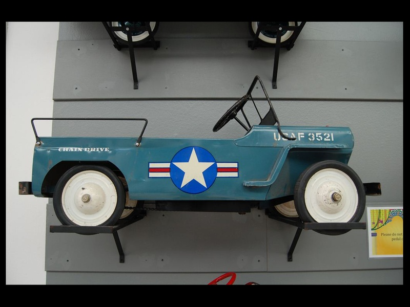 348, Children's Museum of Houston, vintage pedal car exhibit, November 2012, BLACK SPACE