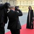 Milla Jovovich at Louvre gala June 2013