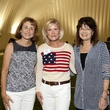 Dr. Julie Boom, from left, Kelli Blanton and Susan Coulter at The Society for Leading Medicine Houston Texans Family Field Day May 2014.