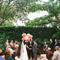 Brennan's courtyard wedding