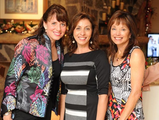 12 Julie Rock, from left, Shirley Alexander and Candice Glenn at the Texas Children's Hospital Woodlands dinner December 2013