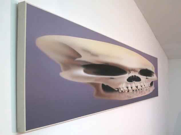 Artist of the Year 2013, Rachel Hecker, Anamorphic Skull, detail