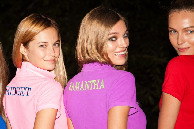 Models at Ralph Lauren Polo event in New York