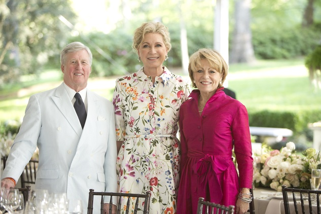 Scott Caven, from left, Carol Linn and Vivien Caven at the Bayou Bend Garden Party March 2015