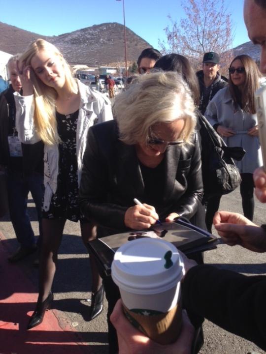 Glenn Close signs autographs at Sundance Film Festival
