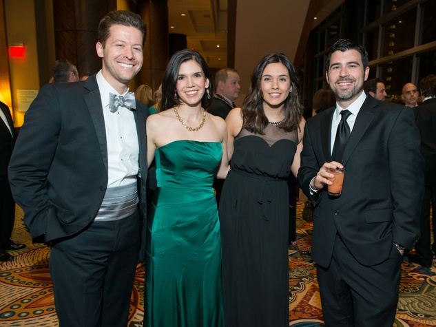 12 Jesse and Gloria Bounds, from left, Mandy Snyder and Geoffrey Castro at the St. Thomas Mardi Gras Gala February 2015