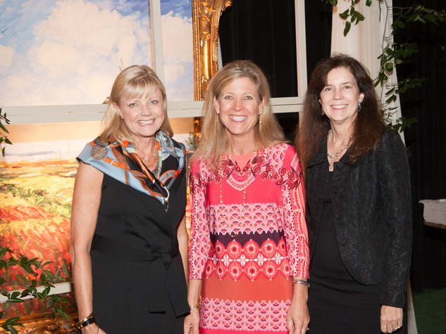 429 Peggy Rathmell, from left, Ellen Cummins and Laura Herring at the Theta Charity Antiques Show preview party November 2013