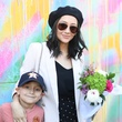Lilly Beltran and son at Color Me Please launch
