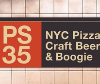 PS 35 pizza restaurant sign