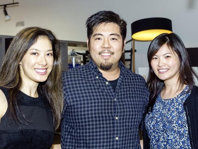 Houston, Mimosa Terrace launch event, Nov 2016, Lucy Chen, Kirk Chen, Minnie Nelson