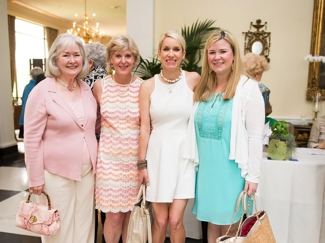 Ruth Gerum, from left, Barbie Dexter, Greer Dexter and Lindsey Heiser at the Blue Bird Circle Luncheon May 2014