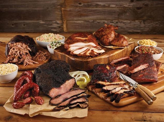 BBQ Spread barbecue Table 57 at H-E-B February 2015