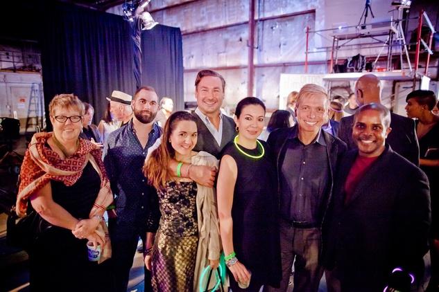 Pat Jasper, from left, K.C. Gifford, Laura Medard, John Salinardo, Nicole Trevino,  Jonathon Glus and Alton LaDay at HAA Iluminación November 2014