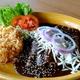 Maria Selma Restaurant Houston rice, mole and beans