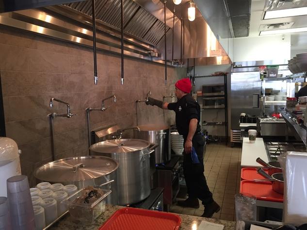 Samurai Noodle kitchen